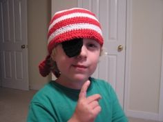Pirate Hat With hidable eye patch