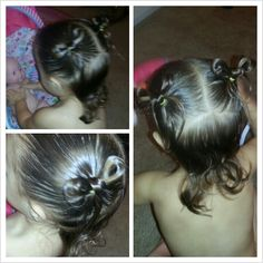Bow hairstyle for short toddler hair. Such a super cute hairstyle for a little girl