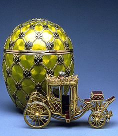 This is the Russian Coronation Egg, definitely the most famous of the Fabergé eggs largely due to its frequency as an object of desire for thieves throughout Hollywood film history.