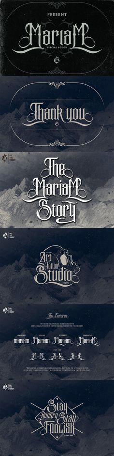 The Mariam story (update). Fonts. $15.00