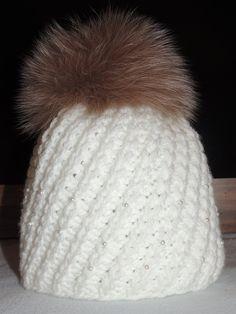 čepice pletená bílá