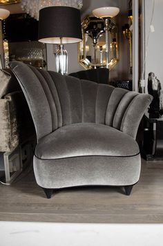 Pair of Hollywood Asymmetrical Tufted Hollywood Chairs at 1stdibs