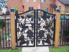 Ворота, лазерная резка металла.
