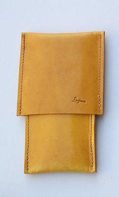 Leather Pen Case Handmade original desing Ludena the top por Ludena