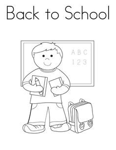 First Day Of School Coloring Page Beautiful A Boy Student with All His Stuff for the First Day Kindergarten Coloring Pages, School Coloring Pages, Flag Coloring Pages, Kindergarten Rocks, Online Coloring Pages, Printable Coloring Pages, Free Coloring, Coloring Pages For Kids, American Flag Coloring Page