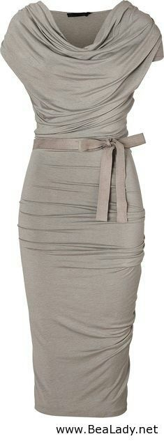 Grey dress for ladies