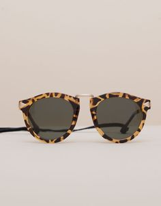Pull&Bear - woman - accessories - printed sunglasses with cord - honey - 09899311-I2015
