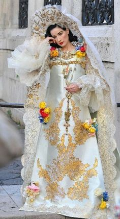 dita von teese presents cristian lacroixs wedding dress in russian style for harpers bazaar