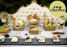 ways to serve and include cheese in your wedding