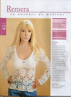 Crochetemoda: Blusa Branca de Crochet