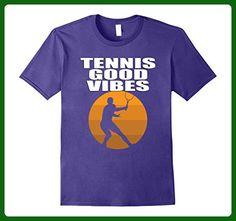 Mens Funny Cool Tennis Good Vibes T Shirt Medium Purple - Sports shirts (*Amazon Partner-Link)