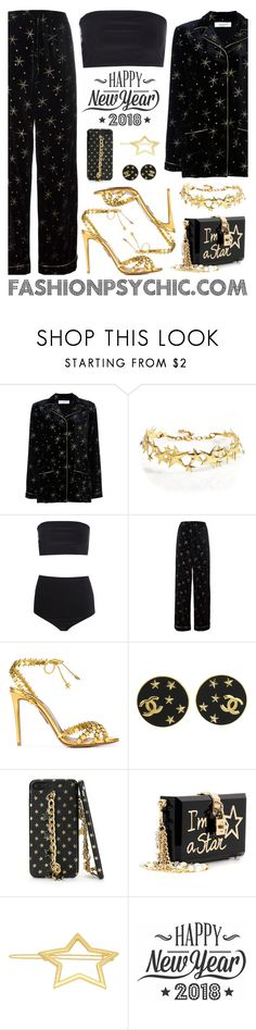 """""""New Year's Eve"""" by fashionpsychic on Polyvore featuring Valentino, Boohoo, Aquazzura, Chanel, Dolce&Gabbana and Cricut"""
