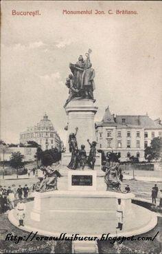 Monumentul-IC-Bratianu Vechiul Bucuresti old Bucharest XIX century Bucharest Romania, Old City, Time Travel, Paris Skyline, Cathedral, Pictures, Memories, Monuments, Traveling