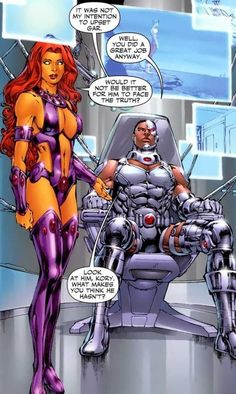 Geo-Force and Steel vs. Starfire and Cyborg - Battles - Comic Vine Starfire Comics, Teen Titans Starfire, Female Comic Characters, Dc Comics Characters, Superhero Villains, Female Superhero, Gi Joe, The New Teen Titans, Dc Comics Girls