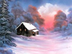 Super Ideas For Winter Art Painting Bob Ross The Joy Of Painting, Painting Art, Art Paintings, Painting Gallery, Indian Paintings, Painting Lessons, Abstract Paintings, Art Gallery, Winter Painting