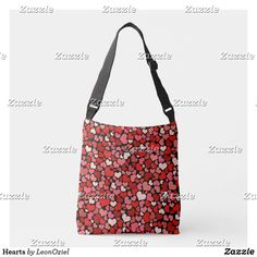 Shop Hearts Crossbody Bag created by LeonOziel. Edge Design, Shades Of Red, Red And Pink, Crossbody Bag, Hearts, Reusable Tote Bags, Girly, Accessories, Shopping