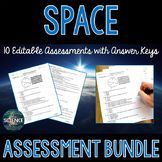 Space Science Assessments Bundle - Distance Learning Compatible Space Vocabulary, Weather Vocabulary, Weather Science, Science Vocabulary, Science Lessons, Life Science, 8th Grade Science, Middle School Science, Space Activities