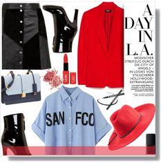 Red IN LA Outfit Idea 2017