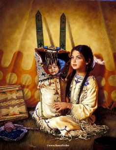 "artistic native american paintings and photography | ... Private Collection28"" x 22"" -Native American Paintings by Karen Noles"