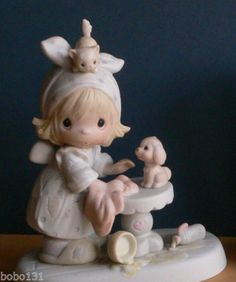 PRECIOUS MOMENTS PORCELAIN COLLECTIBLE-This Is Your Day To Shine 1983 (95)