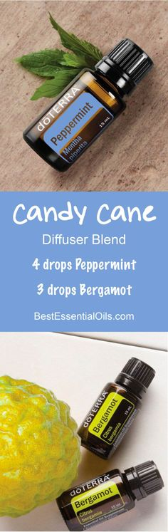 Candy Cane doTERRA Diffuser Blend Recipe Learn all about doTERRA Peppermint essential oil uses plus I have tons of DIY and Food Recipes. you can use peppermint in. Bergamot Essential Oil Uses, Peppermint Essential Oil Uses, Doterra Peppermint, Essential Oil Diffuser Blends, Doterra Essential Oils, Natural Essential Oils, Deck The Halls, Doterra Diffuser, Healthy Oils