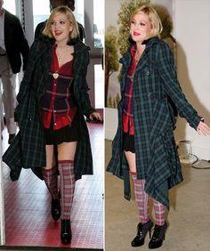 Drew Barrymore Tartan Outfit