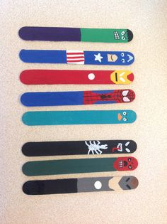 Took the super hero bookmark idea and expanded on it.  In the process of making the Phineas & Ferb Mission Marvel set.  Added Spider-Man, Perry the platypus, Venom, Red Skull & Whiplash.  Paint markers work great for the faces/details.  Even a black Sharpie.