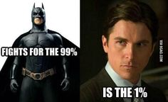 I never understood this from Batman...