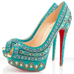 Christian Louboutin Bollywoody Suede Peep Toe Pumps 140mm Suede
