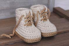 Crochet PATTERN Baby Boys Booty Combat Boot Crochet by Inventorium