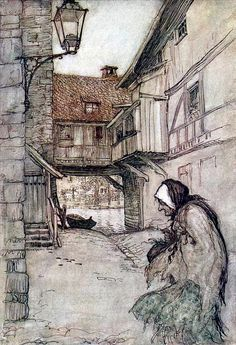 """From 'Old Sultan'. """"Grimm's Fairy Tales"""" illustrated by Arthur Rackham, 1909"""