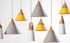 Slope Pendant Lamps by Skrivo