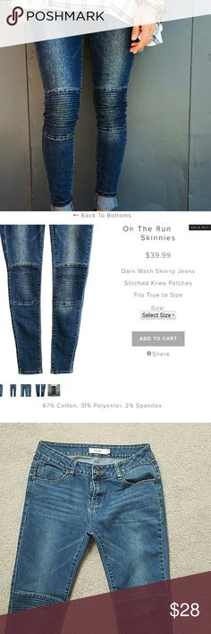 New without tags skinny jeans! Super cute on but too big for me. Size 7. Purchased from Roolee boutique Jeans Skinny