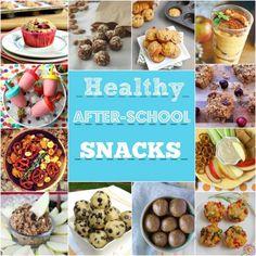 Healthy After School Snacks - roundup via MealMakeoverMoms.com/kitchen #recipes #kids #snacks