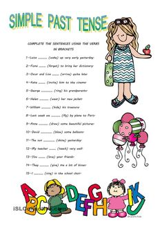 In this ws students revise some regular and irregular verbs. They fill in the gaps with the correct form. Hope you find it useful for your sts. You can correct the ws in the blackboard or students may doing it by themselves - ESL worksheets Grammar For Kids, Teaching English Grammar, English Worksheets For Kids, English Activities, English Writing, Worksheets For Grade 3, Verb Worksheets, English Study, Printable Worksheets