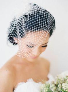 Chic Birdcage Veil | photography by http://jenhuangphoto.com/