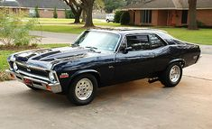 Vintage Cars Muscle 1971 Chevy Nova SS looking nicely aggressive. Old Muscle Cars, Chevy Muscle Cars, American Muscle Cars, American Auto, General Motors, Nova Car, Chevy Nova, Chevy Ss, Sweet Cars