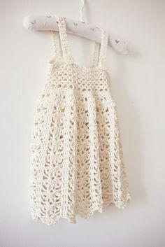 Dress Crochet PATTERN (pdf file) - Sarafan Dress (sizes up to 5 years). via Etsy.