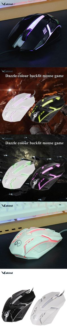 Professional Wired Gaming Mouse Colorful LED Backlight 3D Optical USB Gamer Computer Mouse Mice for Laptop Computer PC