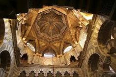 mosque of cordoba ceiling - octagon within a square