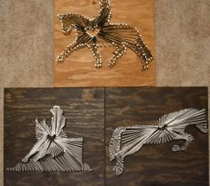 Nails and string art with riding disciplines