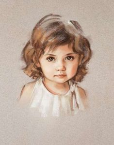 Portrait painting of a little girl. Soft pastel, This custom portrait is handmade by me with soft artistic quality pastel on paper. Commissioned portrait from photo will be surprising memorable gift for your family members or friends. Portrait Draw, Portrait Au Crayon, Pencil Portrait, Portrait Paintings, Family Portrait Painting, Painting Portraits, Horse Paintings, Pastel Portraits, Portraits From Photos