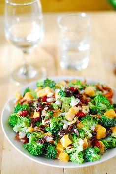 Broccoli salad with bacon, raisins, and cheddar cheese by JuliasAlbum.com, via Flickr