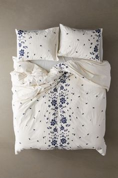 Shop Samantha Embroidered Floral Duvet Cover at Urban Outfitters today. Full Duvet Cover, Comforter Cover, Bed Duvet Covers, Duvet Sets, Quilt Cover, Duvet Cover Sets, Boho Duvet Cover, Floral Duvet Covers, Duvet Insert