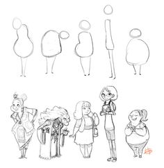 Character Shapes byLuigiL -                                         How to Art