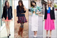 Women Blazer with Skirt