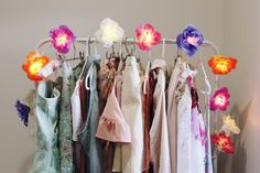 wardrobe flower lights