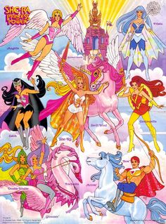 She-ra Princess of Power- I had a bunch of the dolls and I even remember getting the Crystal Castle for Christmas one year!