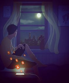OmarioTwoD is an English-Italian artist who mostly focuses on the joyful and sad moments of romantic relationships. Anime Wallpaper Live, Anime Scenery Wallpaper, Galaxy Wallpaper, Cartoon Wallpaper, Wallpaper Backgrounds, Foto 3d, Cute Love Wallpapers, 8bit Art, Animated Love Images