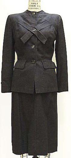 Gilbert Adrian  Suit  - American ca.1944     Wool, rayon
